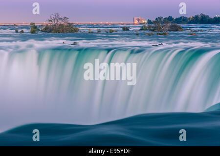 Cascate Horseshoe, parte del Niagara Falls, Ontario, Canada. Foto Stock