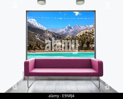 Bella casa di montagna con arredi moderni foto immagine for Arredi bella