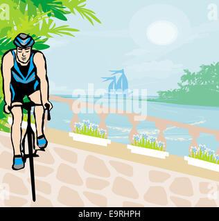 La formazione per i ciclisti in vacanza tropicale