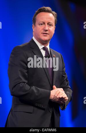 Il primo ministro,David Cameron, indirizzi della CBI annuale conferenza presso il Grosvenor House Hotel Londra