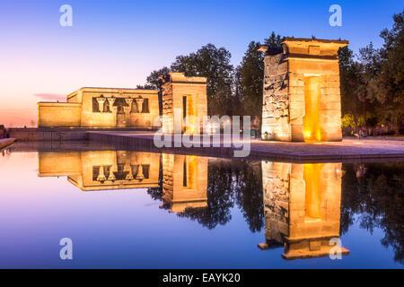Tempio Debod a Madrid, Spagna. Foto Stock