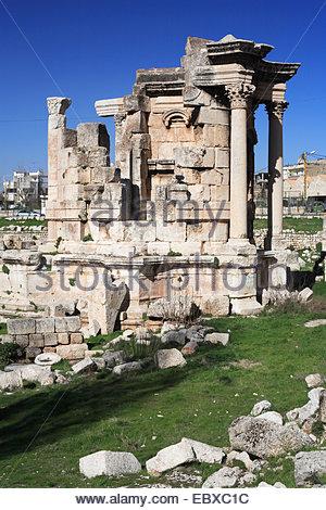 Tempio romano di Venere, Libano, Baalbek Foto Stock