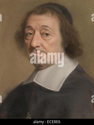 Ritratto di Monseigneur Louis doni d'Attichy, Vescovo di Riez e successivamente di Autun; Robert Nanteuil, francese, 1623 - 1678; Francia, Europa; 1663; pastello su carta