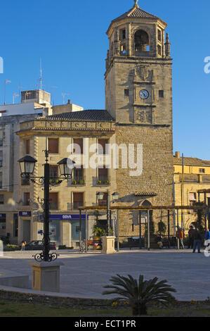 Torre dell Orologio in Plaza de Andalucía, Úbeda, provincia di Jaén, Andalusia, Spagna, Europa