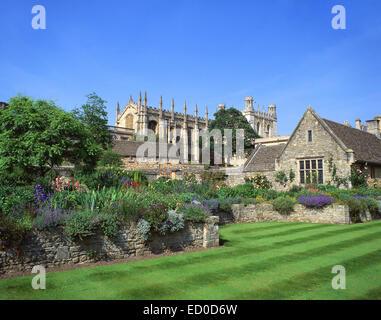 Christ Church College da War Memorial Gardens, Oxford, Oxfordshire, England, Regno Unito Foto Stock