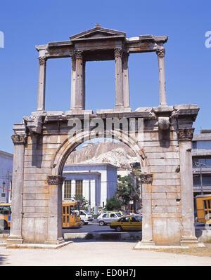 L'Arco di Adriano, Plaka, Atene, il centro di Atene, Attica, Grecia Foto Stock