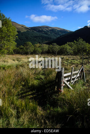 Le incredibili e stupefacenti vedute del Glen Lyon in Loch Lomond e il Trossachs National Park, Scozia. Foto Stock