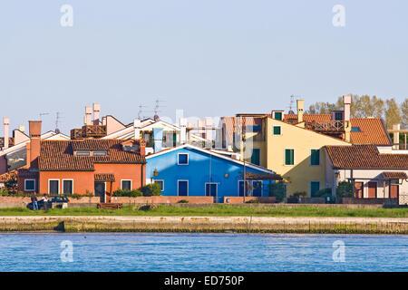 Casa colorati a isola del Lido di Venezia Italia