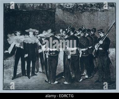 L'esecuzione dell'Imperatore Massimiliano, 1867, Edouard Manet Foto Stock