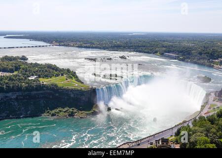 Canada Ontario, vista delle cascate del Niagara Foto Stock