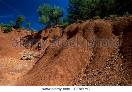 Montagne Sainte-Victoire, Bouches-du-Rhones, Francia, Leggenda della Francia Foto Stock
