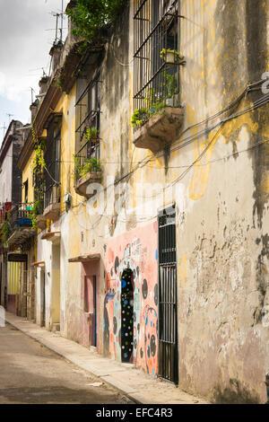 Cuba Avana Vecchia La Habana Vieja strada tipica scena gallery ' non entrare - Arte Millit zona ' gallery di convertito home