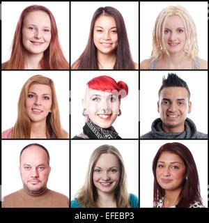 Gli uomini e le donne che vanno da 18 a 45 anni Foto Stock