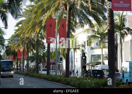 A nord di Rodeo Drive a Beverly Hills Los Angeles California USA