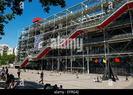 Centre Pompidou di Parigi, Francia Foto Stock