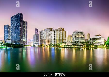 Miami, Florida lo skyline della citta'. Foto Stock