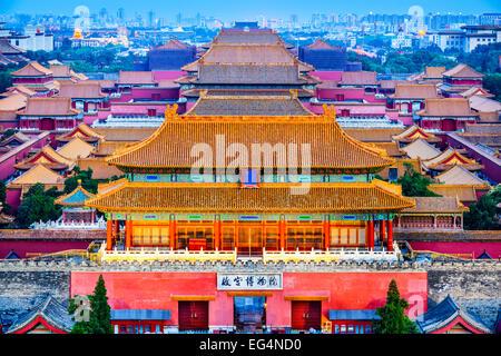 Pechino, Cina presso l'antica città proibita. Foto Stock