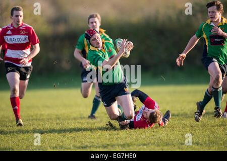 Rugby, giocatore di essere affrontati. Foto Stock