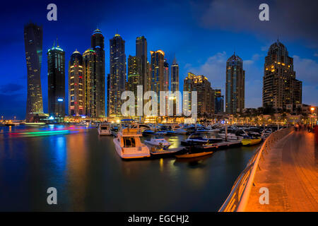 Dubai Marina Foto Stock