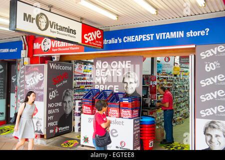 Signor vitamine store in Chastwood Sydney Australia, chatswood è molto popolare di comunità asiatica Foto Stock