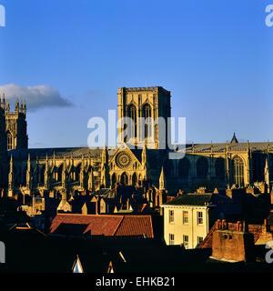 York Minster Cathedral. York. Yorkshire. Regno Unito Foto Stock