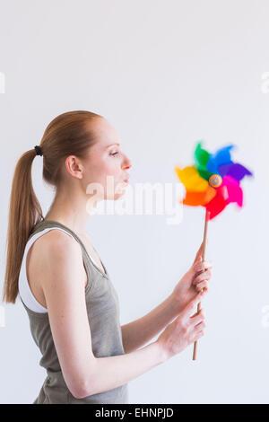 Immagine concettuale del respiro. Foto Stock