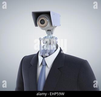 Automatizzato di telecamera di sorveglianza. Percorso di clipping incluso Foto Stock