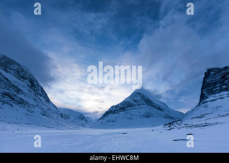 Serata al Kebnekaise area di montagna, Kiruna, Svezia, Europa UE Foto Stock