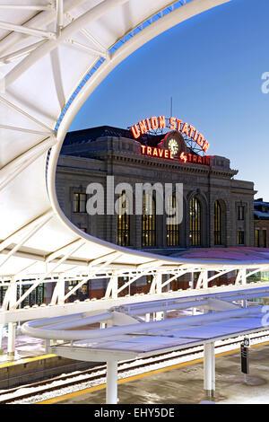 La Union Station, Denver, Colorado, STATI UNITI D'AMERICA Foto Stock