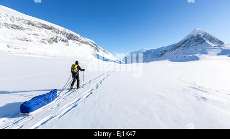 Kebnekaise area di montagna, Kiruna, Svezia, Europa UE Foto Stock