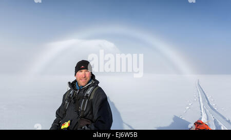 Un alone al Kebnekaise area di montagna, Kiruna, Svezia, Europa UE Foto Stock