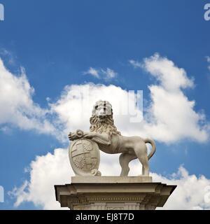 Lion scultura, Nordkirchen Palace, Germania