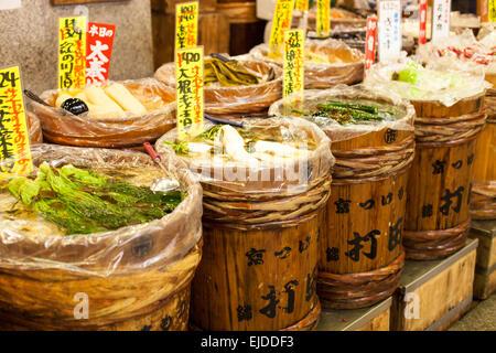Il mercato tradizionale del Giappone. Foto Stock