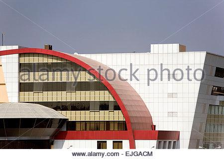 Hyderabad. Hi-Tech City. Edificio moderno. Foto Stock