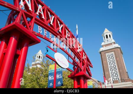 Il Navy Pier. Il centro di Chicago. Illinois. Stati Uniti d'America. Foto Stock