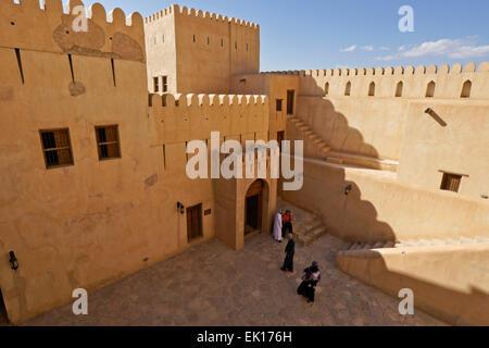 Nizwa Fort, Nizwa, Sultanato di Oman Foto Stock