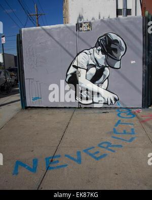 Los Angeles, Stati Uniti d'America. Xiv Nov, 2014. Foto scattata il 9 novembre 14, 2014 mostra graffiti a Brooklyn Foto Stock