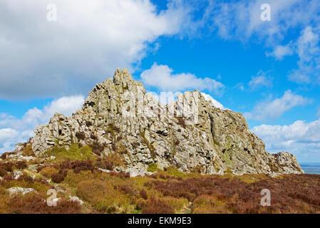 Il Stiperstones, una riserva naturale nazionale nello Shropshire England Regno Unito Foto Stock