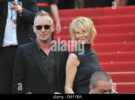 """CANNES, Francia - 26 Maggio 2012: Sting e Trudie Styler al gala screening di 'Mud"""" a Cannes. Maggio 26, 2012 Cannes, Francia"""