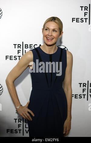 New York, Stati Uniti d'America. Il 15 aprile, 2015. Actrice americano Kelly Rutherford pone sul tappeto rosso per Foto Stock