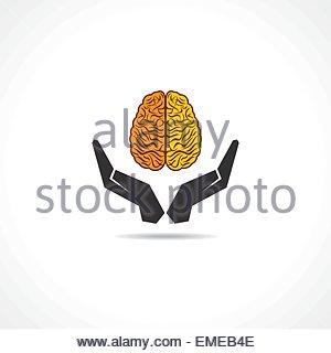 Concetto illustrazione di proteggere la conoscenza umana Foto Stock