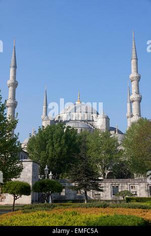 La Moschea Blu (Sultanahmet Camii), Istanbul, Turchia Foto Stock
