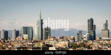 Milano (Italia), skyline con nuovi grattacieli