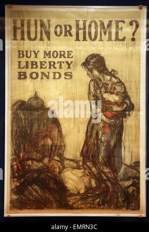 Hun o Casa?. Da più libertà di obbligazioni. Henry Raleigh.Edwards& Deutsch Litho. C., 1918. Poster rilasciato dal Foto Stock