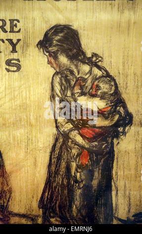 Hun o Casa?. Da più libertà di obbligazioni. Henry Raleigh. Chigado: Edwards&Deutsch Litho. C., 1918. Poster rilasciati Foto Stock