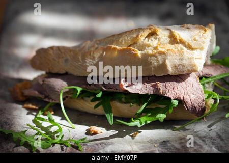Roast beef sandwich Foto Stock