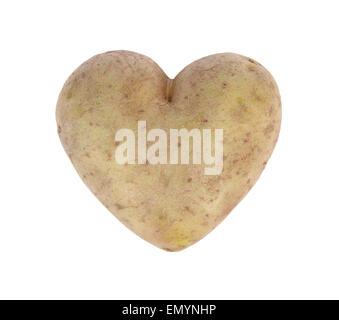 A forma di cuore spud patata, studio shot Foto Stock