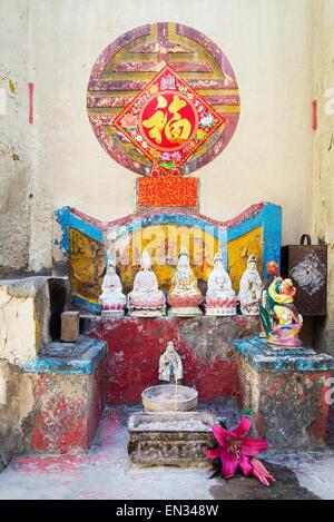 Santuario cinese sulla strada della vecchia taipa a Macau Foto Stock
