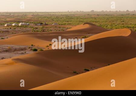 Dune di sabbia, Erg Chegaga. Deserto del Sahara. Il Marocco. L'Africa.