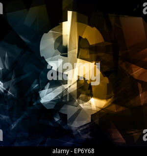 Blend 3d sfondo astratto, dollar sign,generati digitalmente immagine. Foto Stock